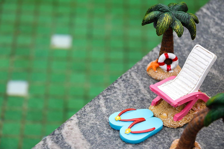 Adornos de jard/ín de Hadas Teresas Collections Juego de 7 Accesorios de Hadas para gnomos de jard/ín decoraci/ón de c/ésped en el Patio al Aire Libre pi/ña Miniatura Pintada a Mano