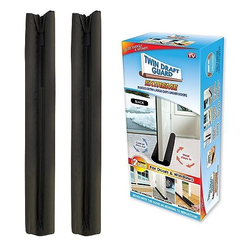 Twin Draft Guard Extreme in Black - Set of 2 - Energy Saving Under Door Draft  sc 1 st  Amazon.com & Amazon Best Sellers: Best Under Door Draft Stoppers