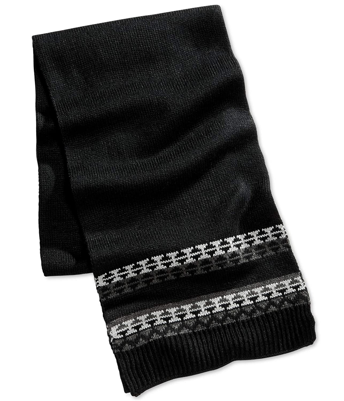 Club Room Mens Black Grey Knit Coldweather Winter Scarf