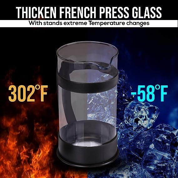 Thermoskanne LaPlaya cafetiére French press acciaio INOX con filtro tè 1 L..