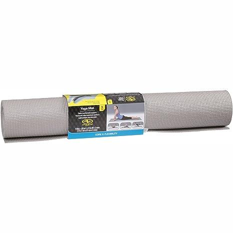 Amazon.com : Athletic Works Yoga Mat, Grey, 3mm : Sports ...