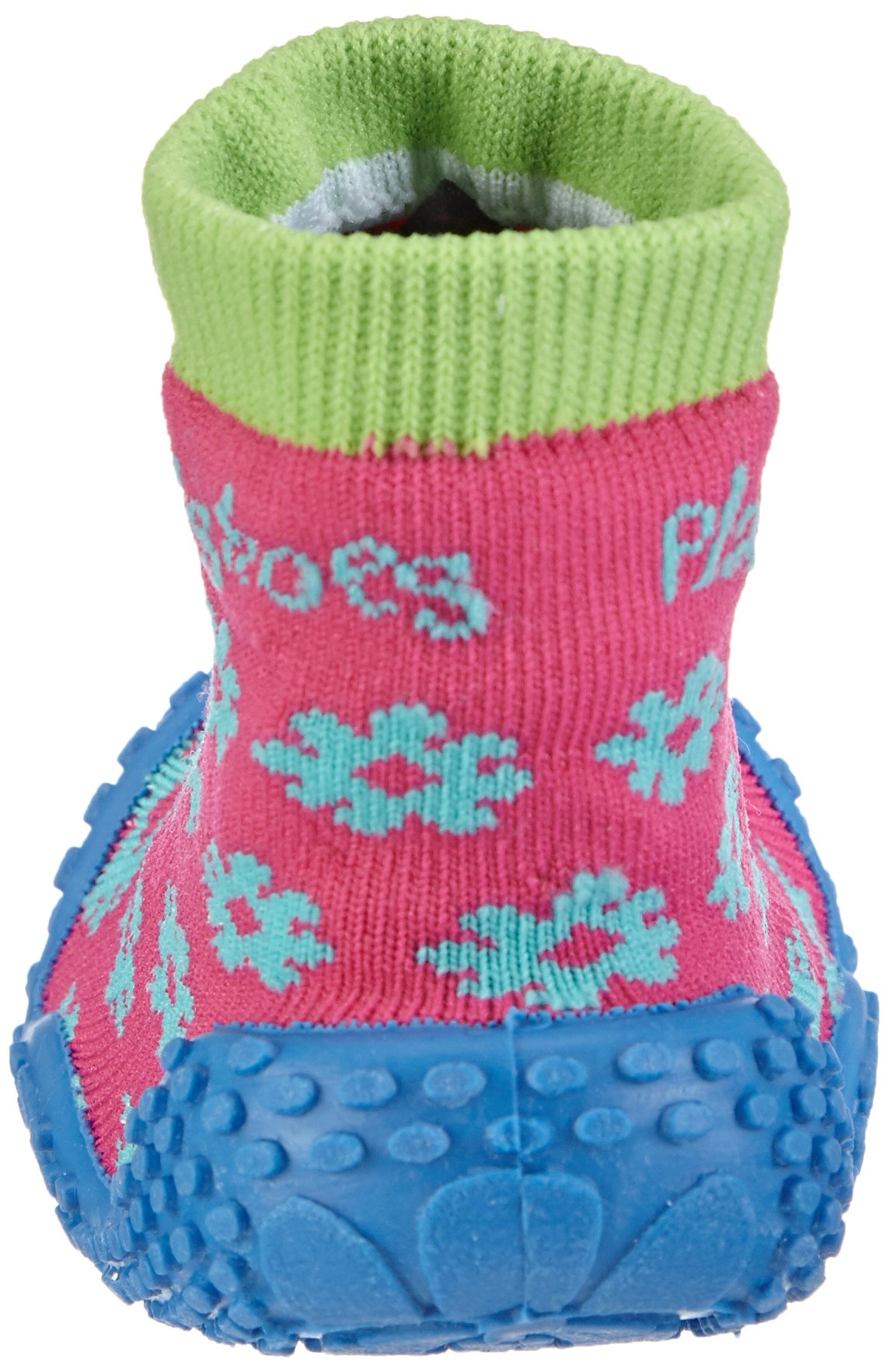 Playshoes Girls Flower Collection Rubber Aqua Swim/Beach Shoes (4.5 M US Toddler) by Playshoes (Image #2)