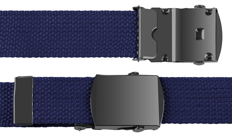 JTC Belt ACCESSORY メンズ B00CMTX9RS Black Buckle - Navy Black Buckle  Navy