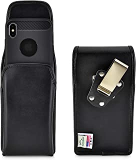 product image for Turtleback Belt Case Designed for iPhone 11 Pro Max (2019) and iPhone Xs MAX (2018) Vertical Holster Black Leather Pouch with Heavy Duty Rotating Belt Clip, Made in USA