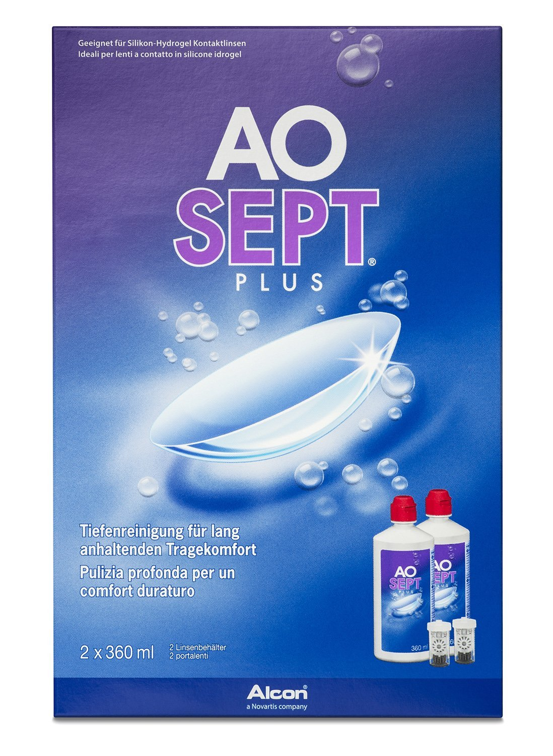 Aosept Plus with HydraGlyde Deep Cleansing Contact Lens Solution Alcon 10103633