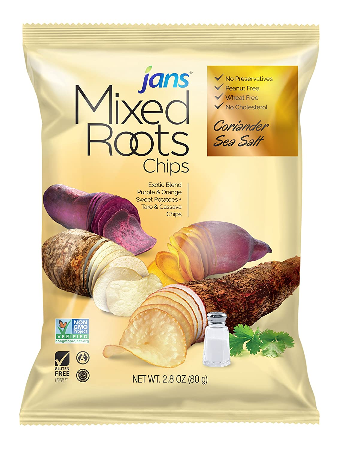 Mixed Roots Chips - All Natural Vegetable Chips (Coriander Sea Salt, 2.8 oz)