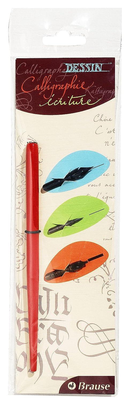 J.Herbin 16003B Kalligraphie-Set 1 lackierter federhalter mit 3 Federn sortiert