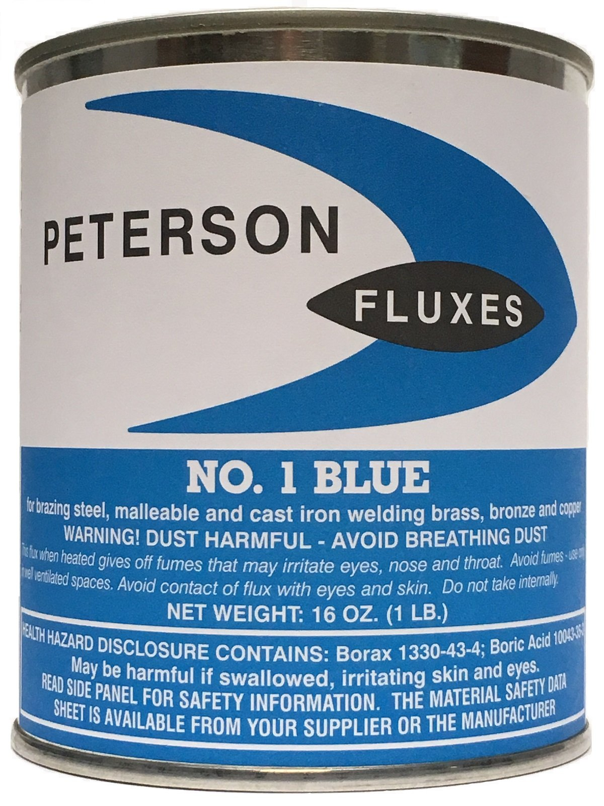 Peterson #1 Flux, Blue Powder, 1 lb Can
