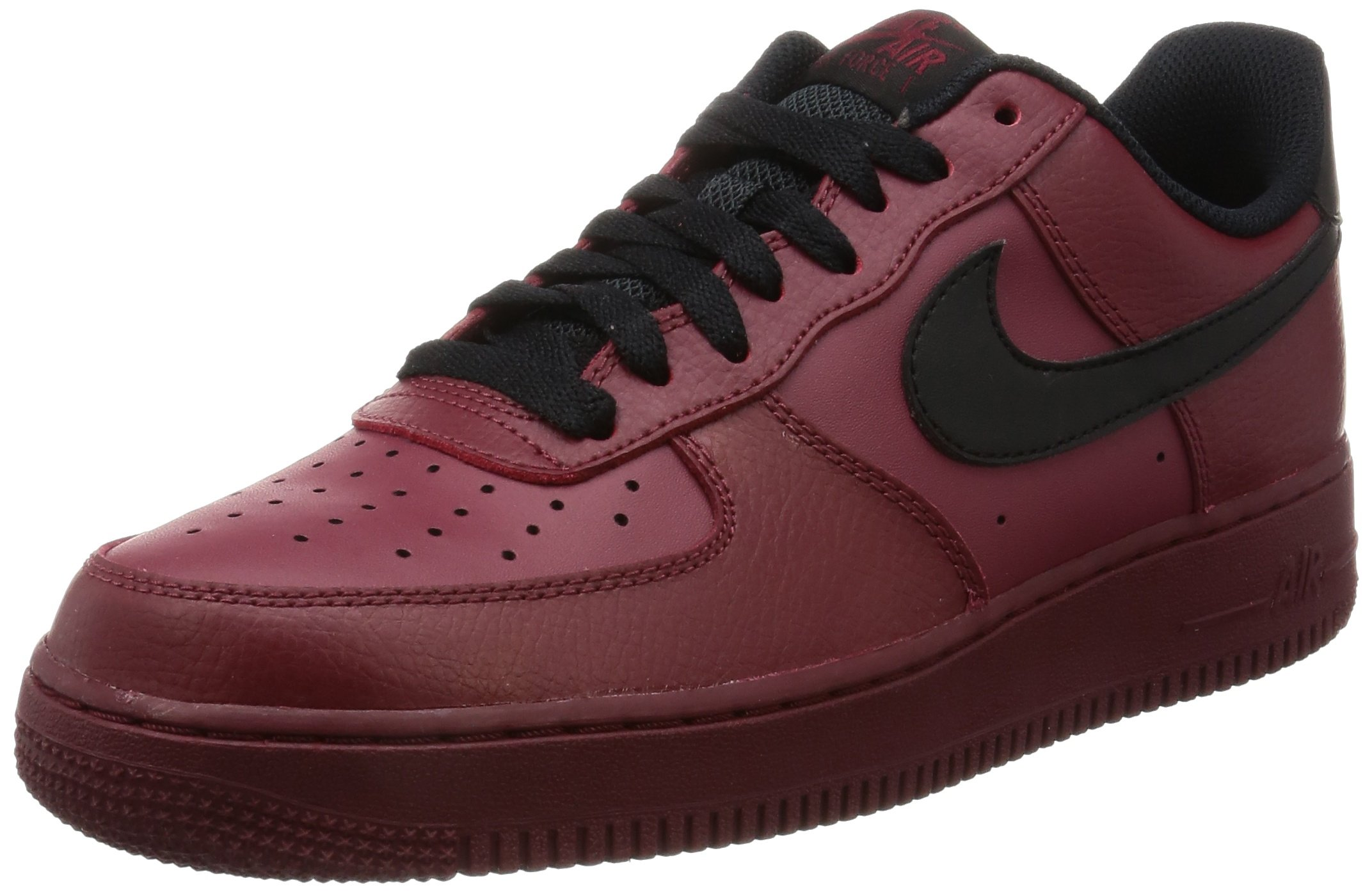 Nike Men's Air Force 1 Low '07 Basketball Shoe Team Red/Black 8.5