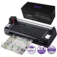 Professional 6-in-1 Laminator Machine | GoGo Gadgets Heavy Duty Lamination Machine with 25 Laminating Sheets | Perfect for Home Office Or School Use!