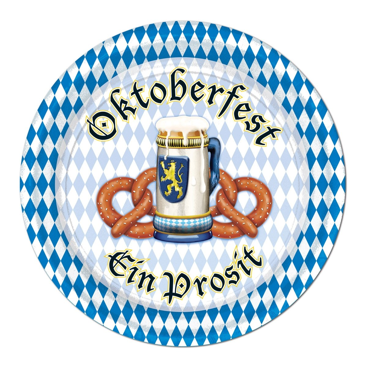 Beistle 58067 8-Pack Oktoberfest Plates 7-Inch The Beistle Company