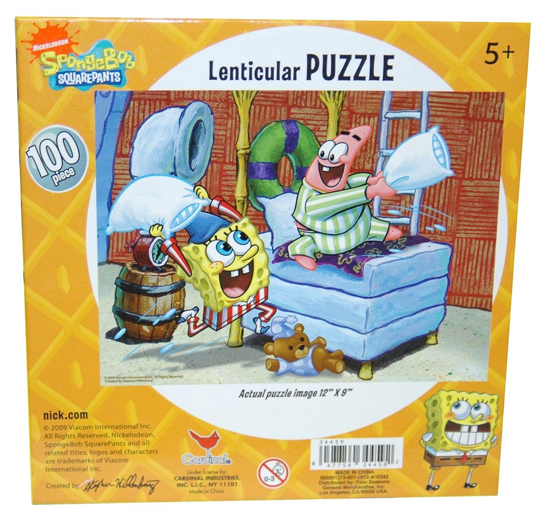 Amazon.com: Bob Esponja 100-Piece Lenticular Puzzle 3d ...