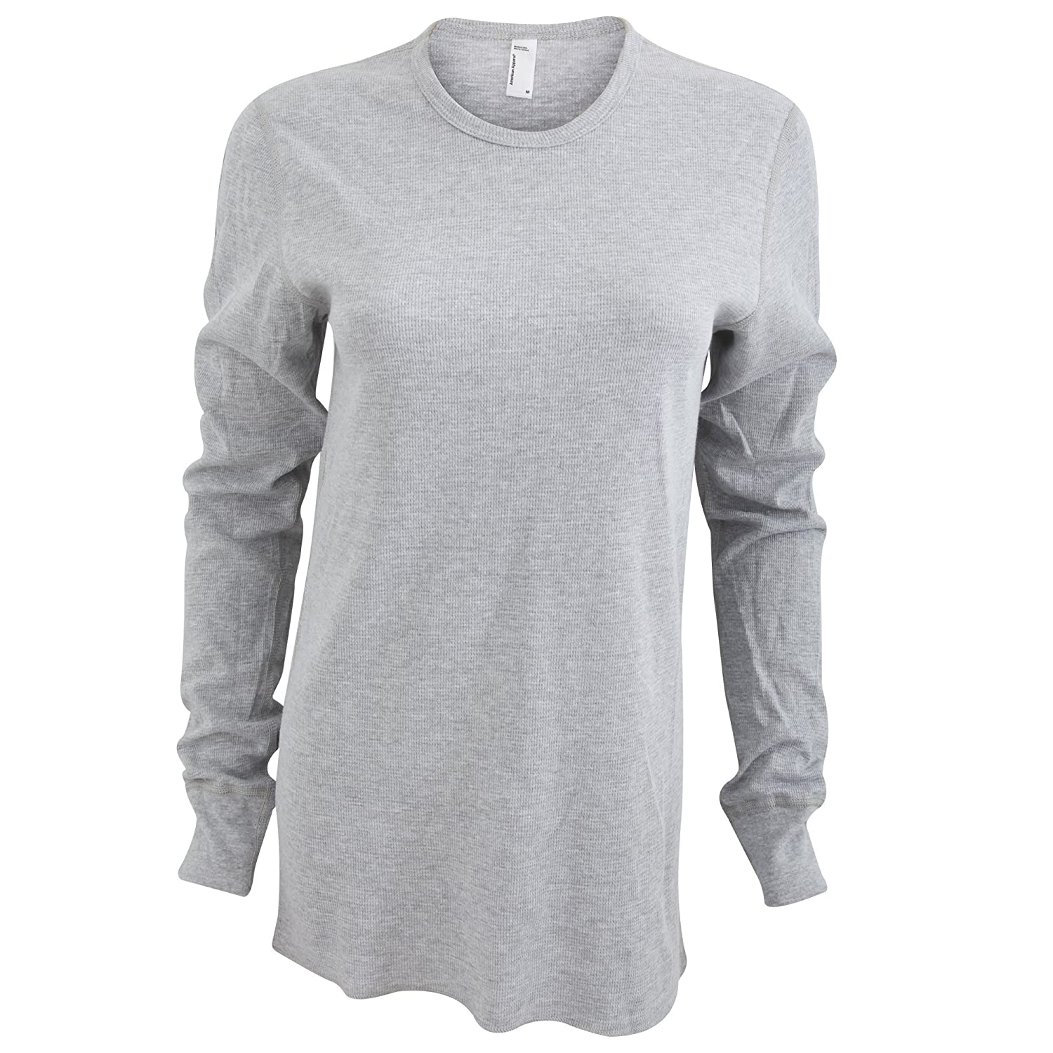 American Apparel Unisex Baby Thermal Long Sleeve T-Shirt -2XL- -Heather Grey-