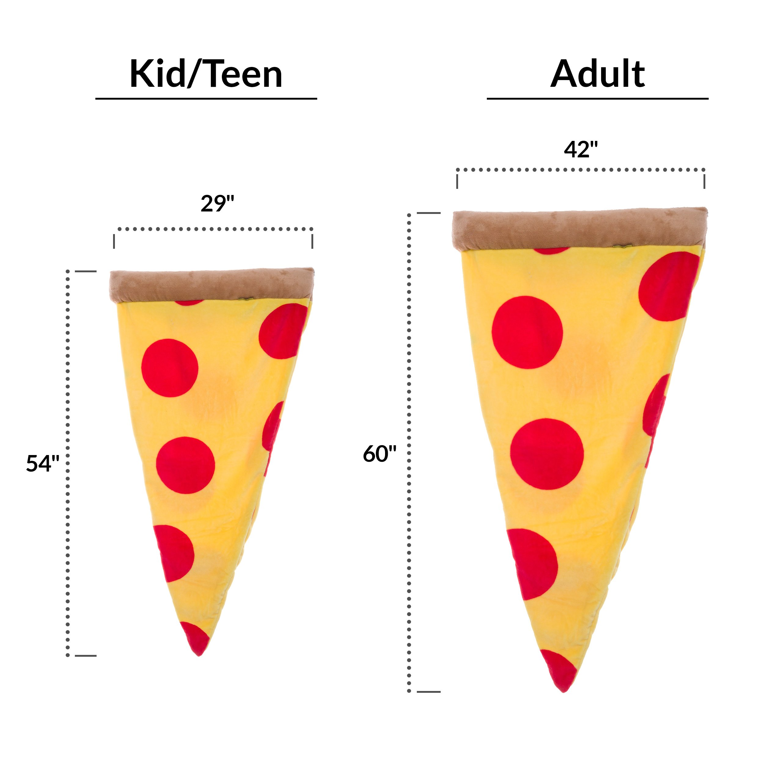 Silver Lilly Pizza Sleeping Bag - Plush Fleece Giant Pizza Slice Blanket for Kids and Adults by (Adult) by Silver Lilly (Image #6)