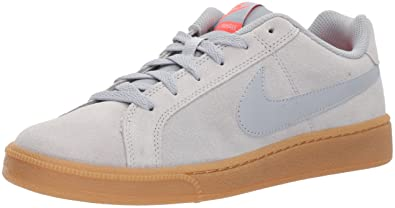 new product 16764 dd12a Nike Court Royale Suede, Baskets Homme, Gris Wolf Grey-Solar Red-Gum