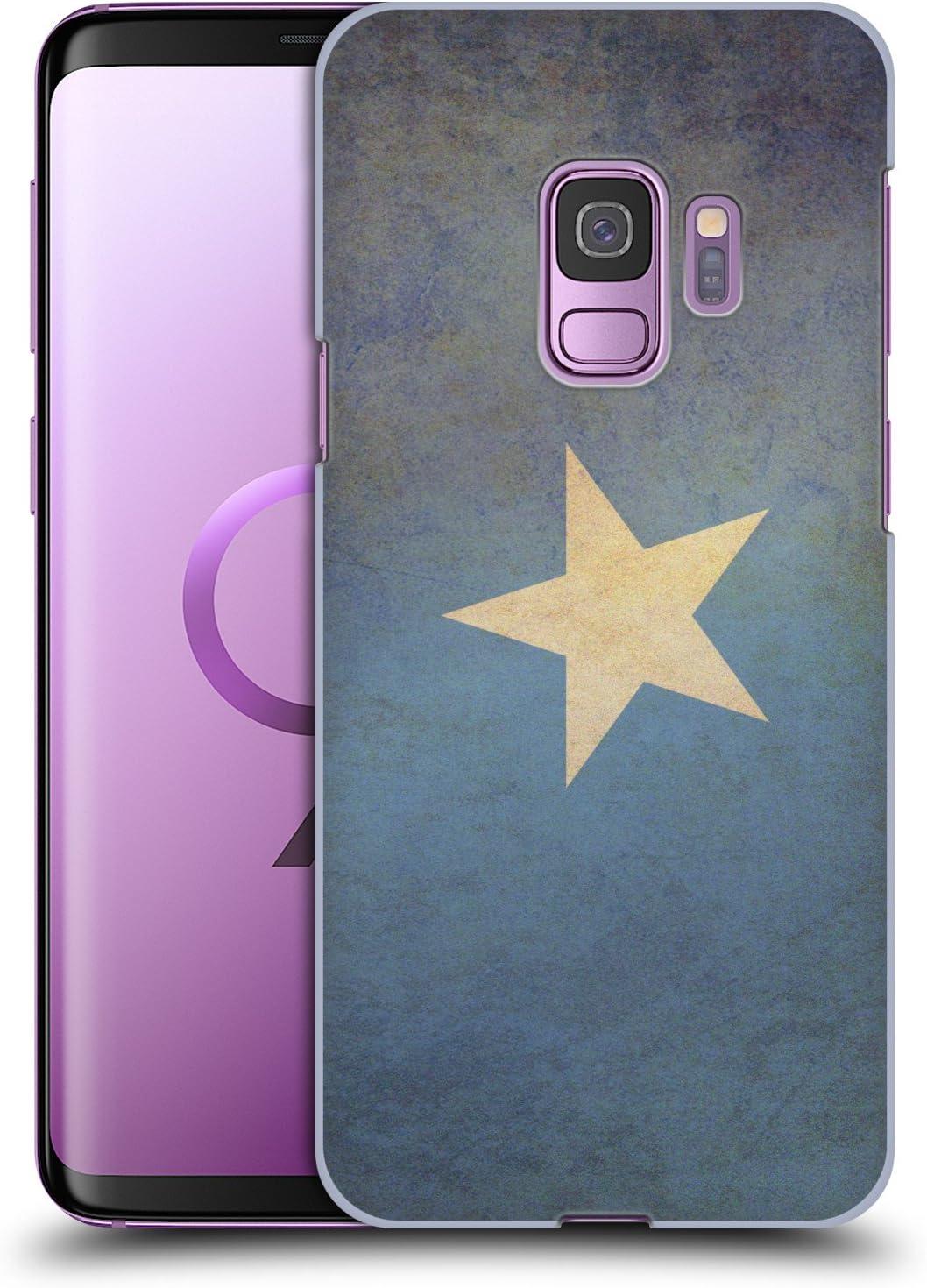 Head Case Designs Somalia Somali Vintage Fahnen 2 Harte Rueckseiten Huelle kompatibel mit Samsung Galaxy S9