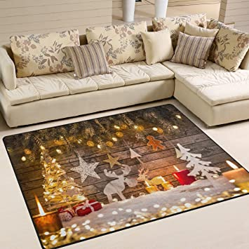 ALAZA Merry Christmas Area Rug Rugs For Living Room Bedroom 7u0027 ...