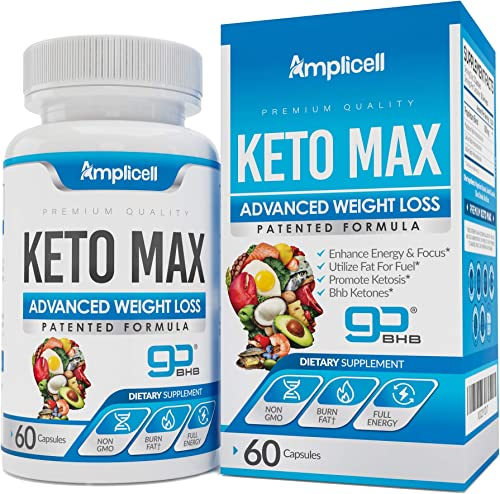 Keto Max GoBHB – Advanced Keto Pills BHB Ketosis Diet – 60 Keto Diet Pills for Women Men – 400mg Keto Supplement – Exogenous Ketones Capsules – Keto Boost Pills Lose Weight Utilize Fat for Energy