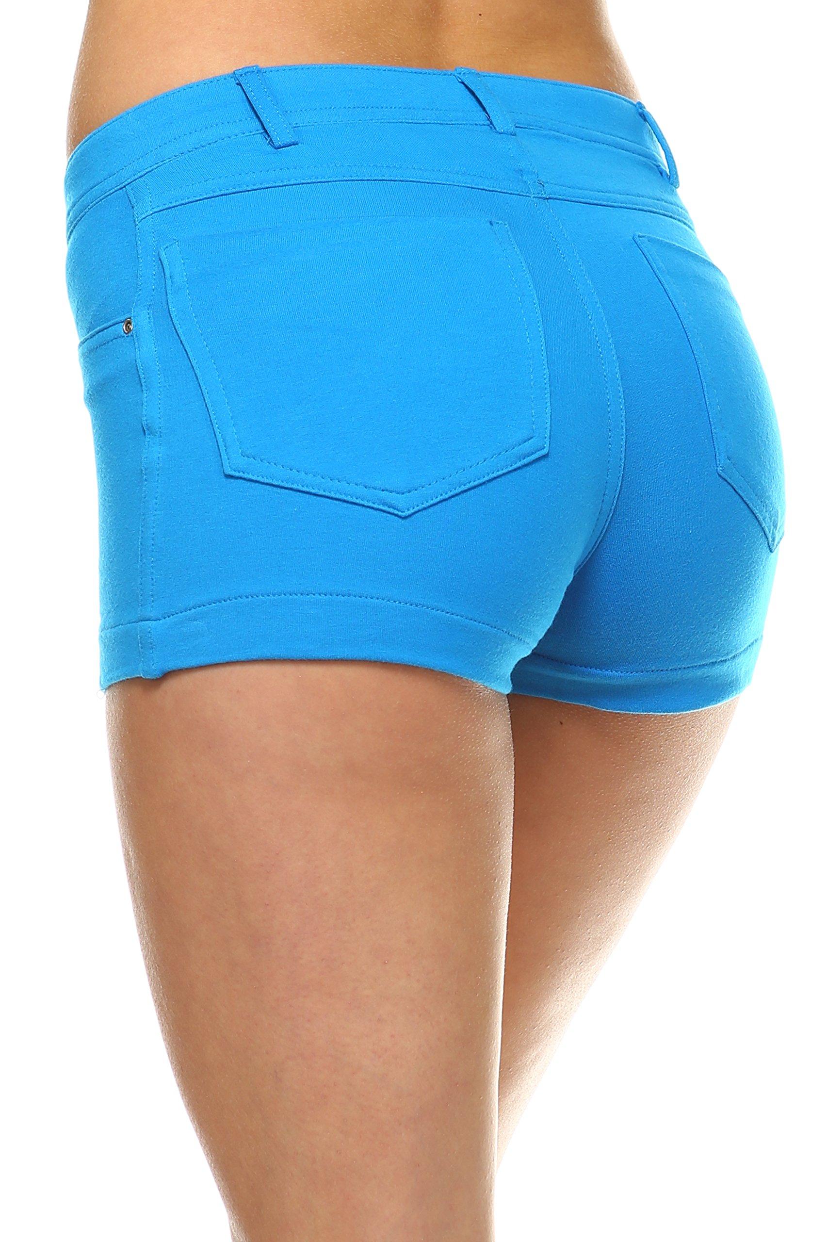 Urban Love Womens Sexy Blue Shorts by Urban Love