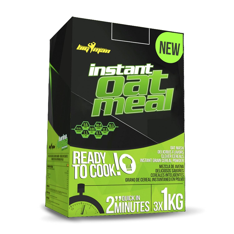 Big Man Nutrition Instant Oatmeal Suplemento de Carbohidratos Galleta Negra - 3000 gr: Amazon.es: Salud y cuidado personal