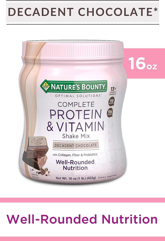 B007ZP1JGM Nature's Bounty Optimal Solutions Protein & Vitamin Shake Chocolate 811ANMYi8eL