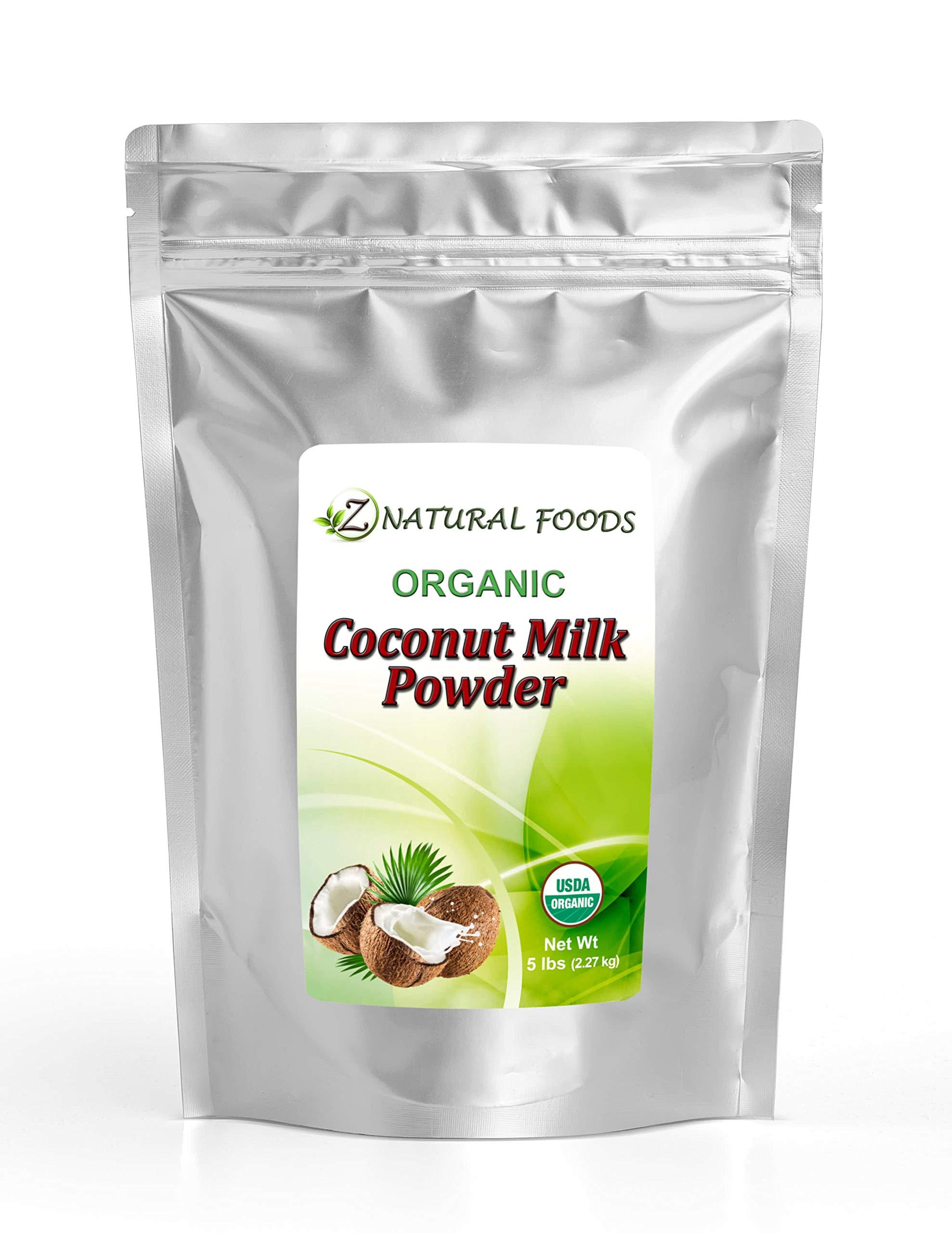Z Natural Foods - Organic Coconut Milk Powder - Kosher, Vegan, Fresh, Gluten Free, All-Natural, Dairy Free, Non-GMO, Keto, Paleo Diet Friendly (5 lbs)