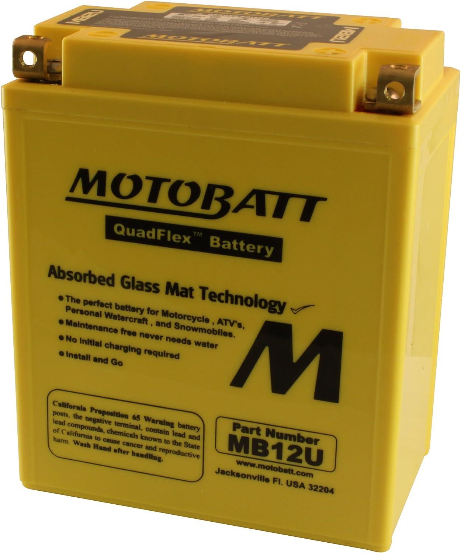 MotoBatt MB12U (12V 15 Amp) 160CCA Factory Activated QuadFlex AGM Battery