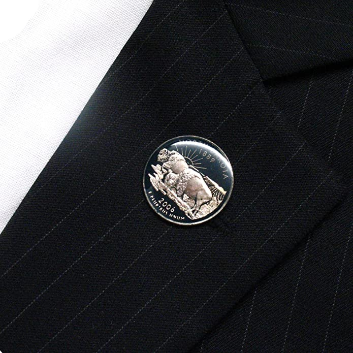 North Dakota Cufflink Cuff Link Suit Flag State Coin Jewelry USA United States America Fargo Bismarck