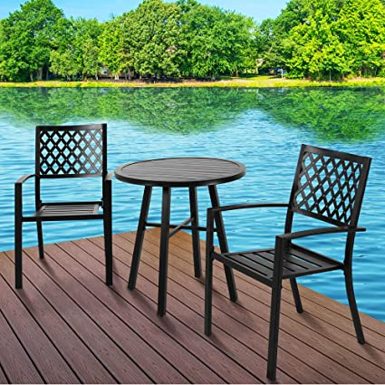 Amazon.com: Patio Time - Juego de mesa de comedor con 2 ...