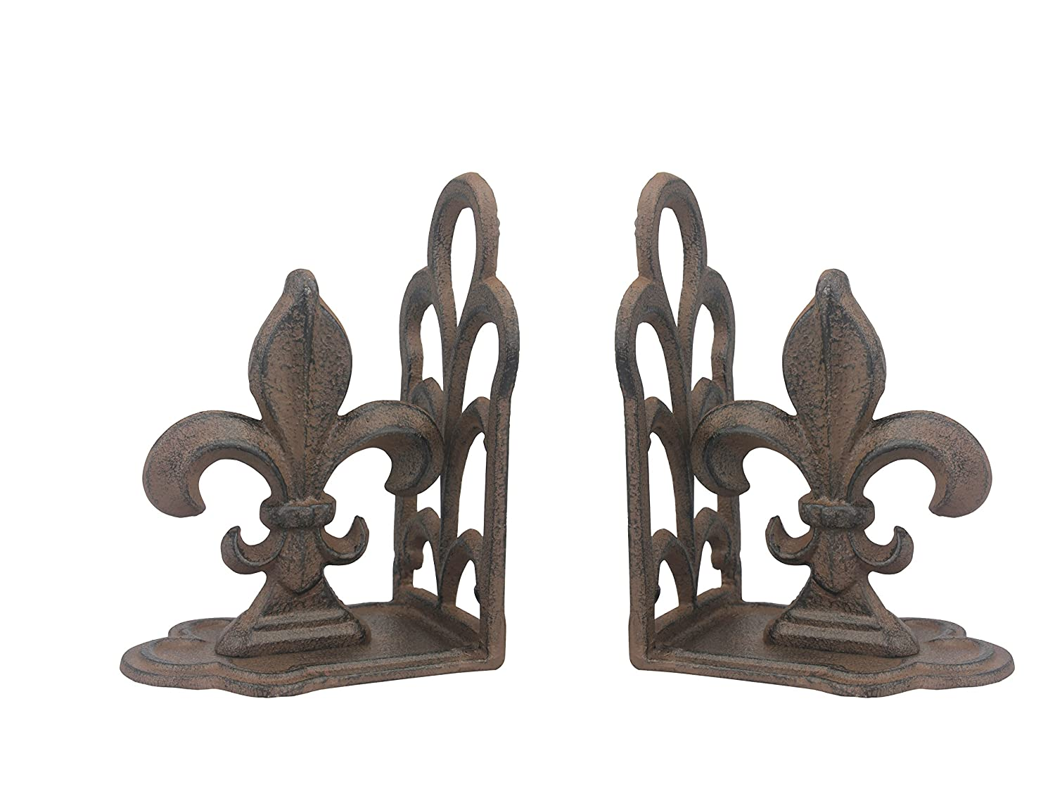 Stonebriar Rustic Cast Fleur de Lis Bookends, Set of 2 CKK Home Décor SB-5027A