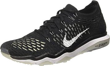 Nike Mujer Aire Zoom sin Miedo Flyknit Zapatillas Running 850426 Zapatillas (UK 5.5 Us 8 Eu 39 , Blanco y Negro 001): Amazon.es: Zapatos y complementos