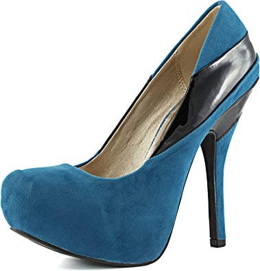 Womens Office Work Wedding Studded Brushed Suede High Stiletto Heel Court Shoes