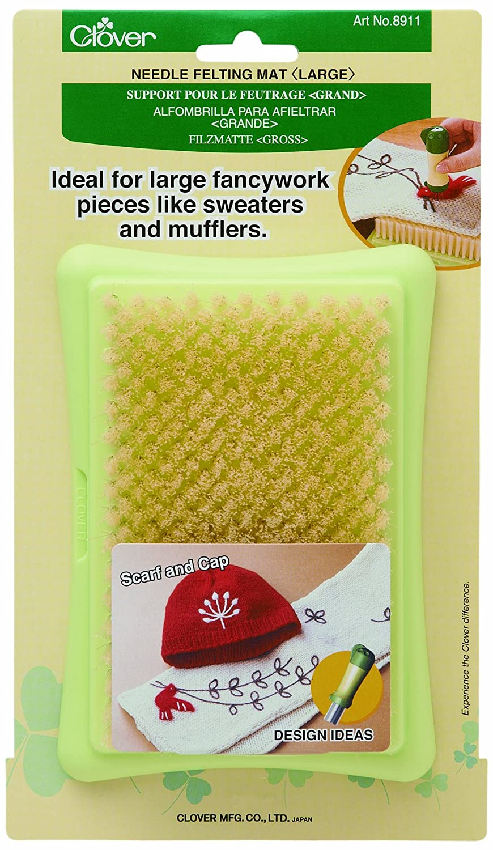 Clover Felting Needle Mat Large, polypropylene Green/Yellow, 1 8911