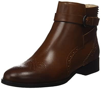 Clarks Netley Olivia - Tan Leather (Brown) Womens Boots 7 US