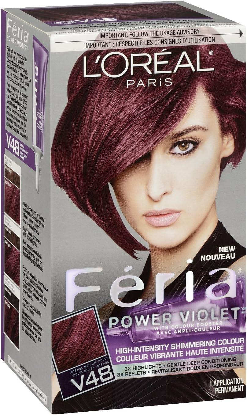 Feria Hair Color, V48, Intense Medium Violet (Packaging May ...
