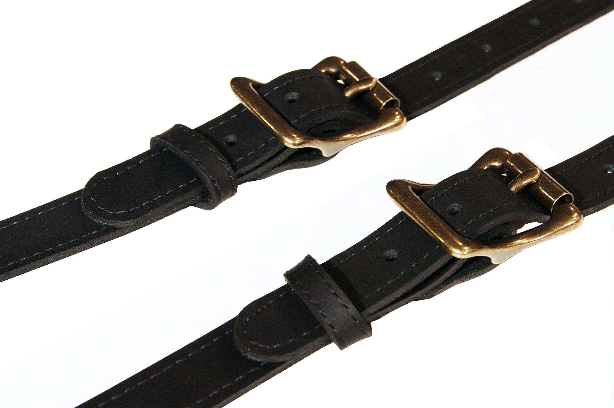 Project Transaction Men's Leather Suspenders XL Black/Antique Buttonholes by Project Transaction (Image #3)