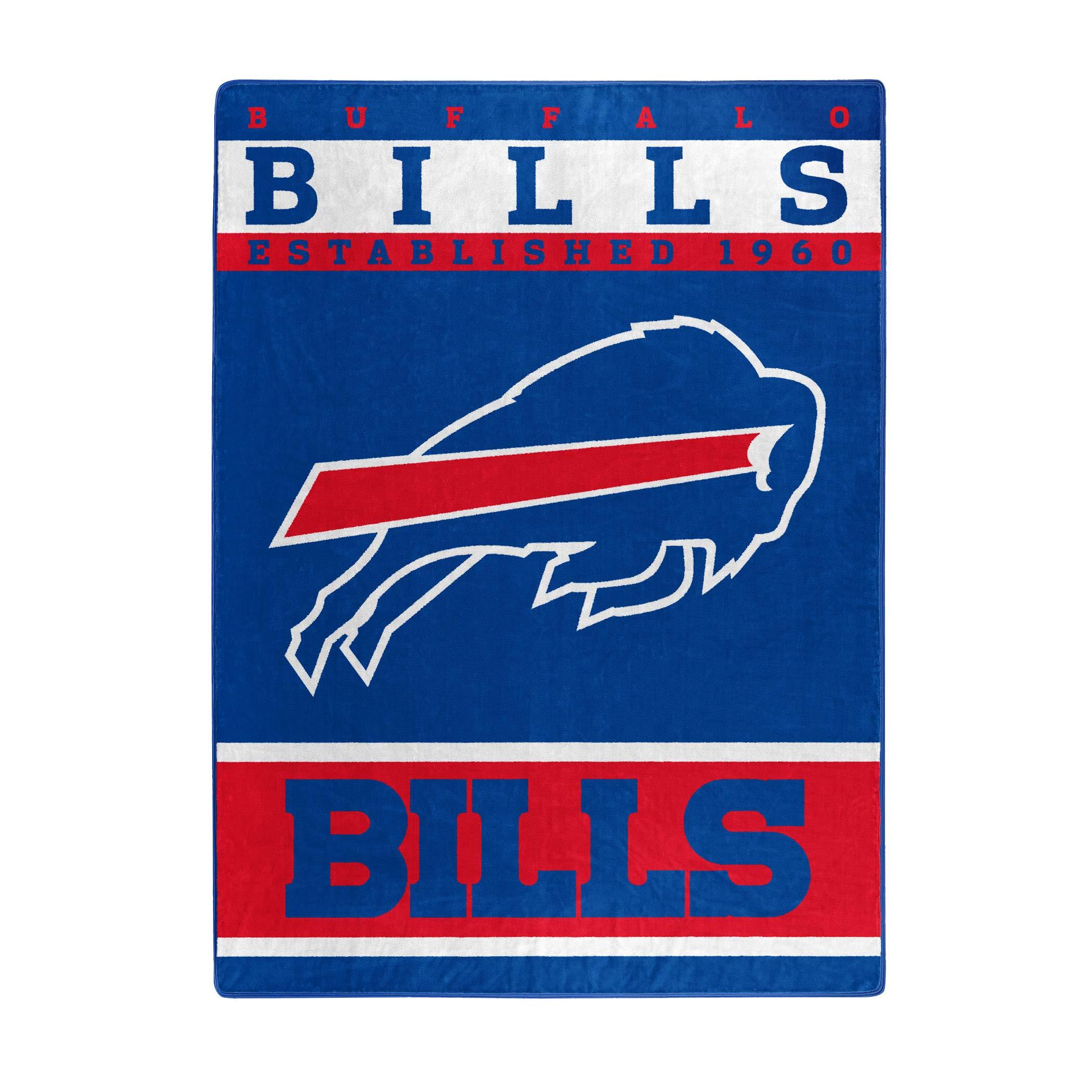The Northwest Company Officially Licensed NFL Buffalo Bills 12th Man Plush Raschel Throw Blanket, 60'' x 80''
