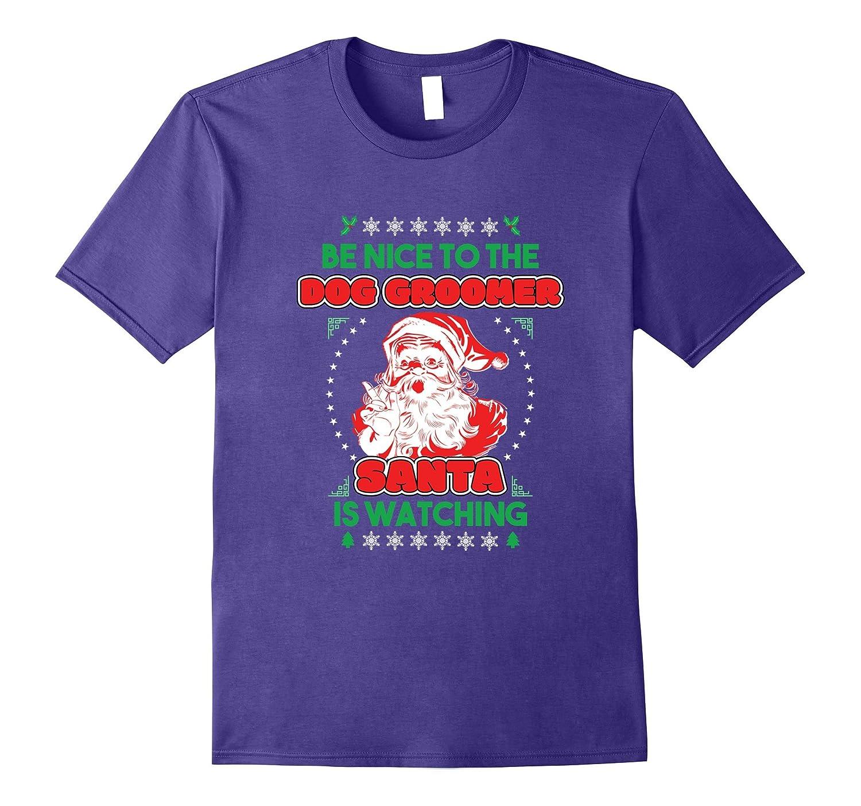 Dog Groomer Santa Watching Christmas-Awarplus