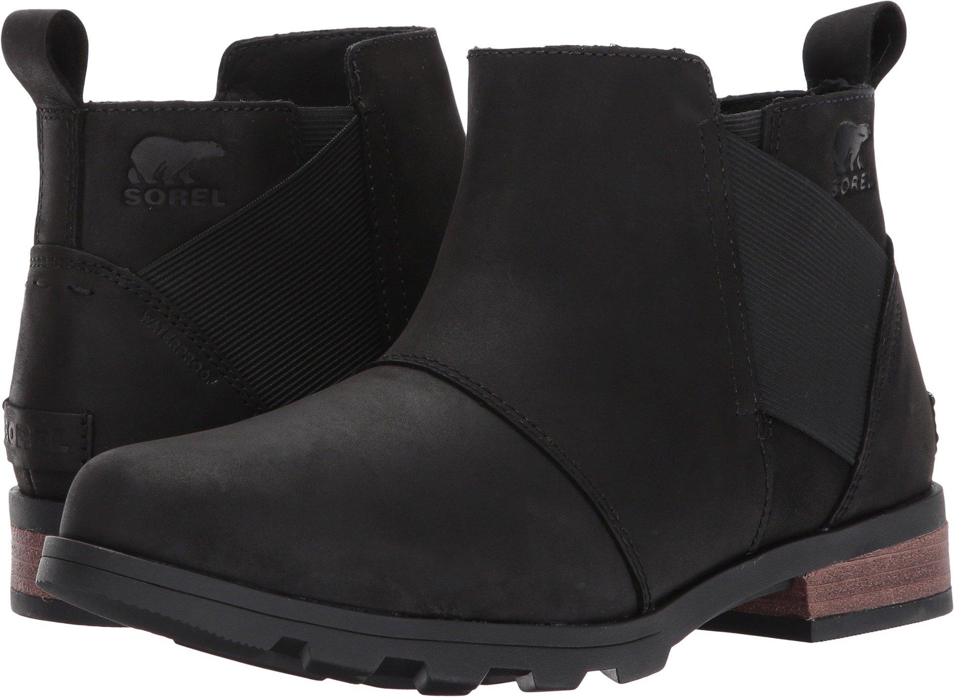 Sorel Emelie Chelsea Boot - Women's Black/Black, 5.0