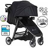 ZOE XLT DELUXE Full-Sized Lightweight Travel & Everyday Umbrella Stroller System (Black)