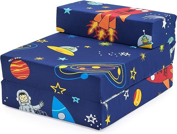 Ready Steady Bed Colchon Plegable para Niños | Silla Plegable Individual para Niños | Ideal para Sala de Estar Dormitorio Sala de Juegos | Puff Cama ...