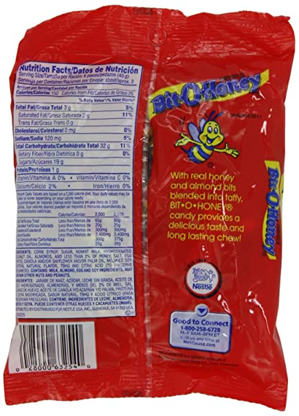 Amazon.com : Nestle Bit O Honey Peg Bag, 4.2-Ounce Bags (Pack of 12) : Candy : Grocery & Gourmet Food