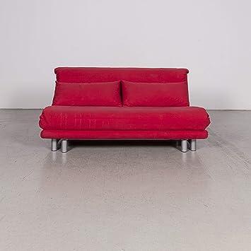 Ligne Roset Multy Designer Stoff Sofa Rot Zweisitzer Couch 8132