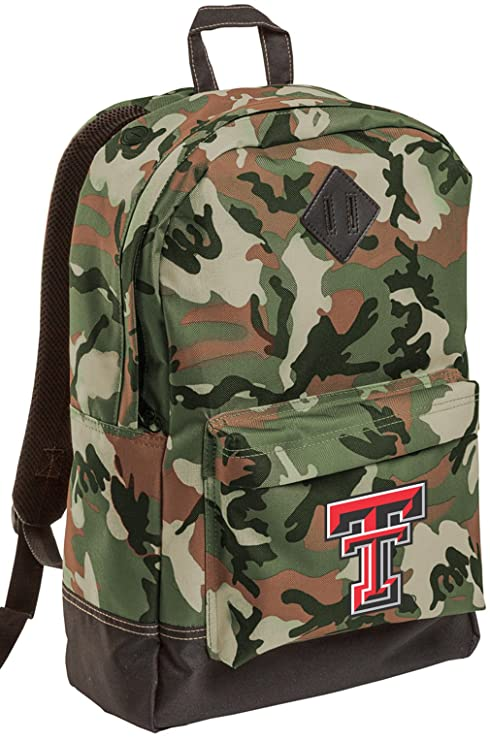 231af487e3c4 Broad Bay Texas Tech CAMO Backpack MEDIUM Texas Tech Red Raiders Backpacks