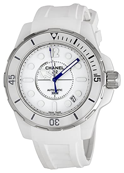Chanel H2560 - Reloj de Pulsera Mujer, Caucho, Color Blanco