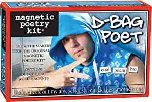 Magnetic Poetry - D-Bag Poet Kit - Words for Refrigerator - Write Poems and Letters on the Fridge