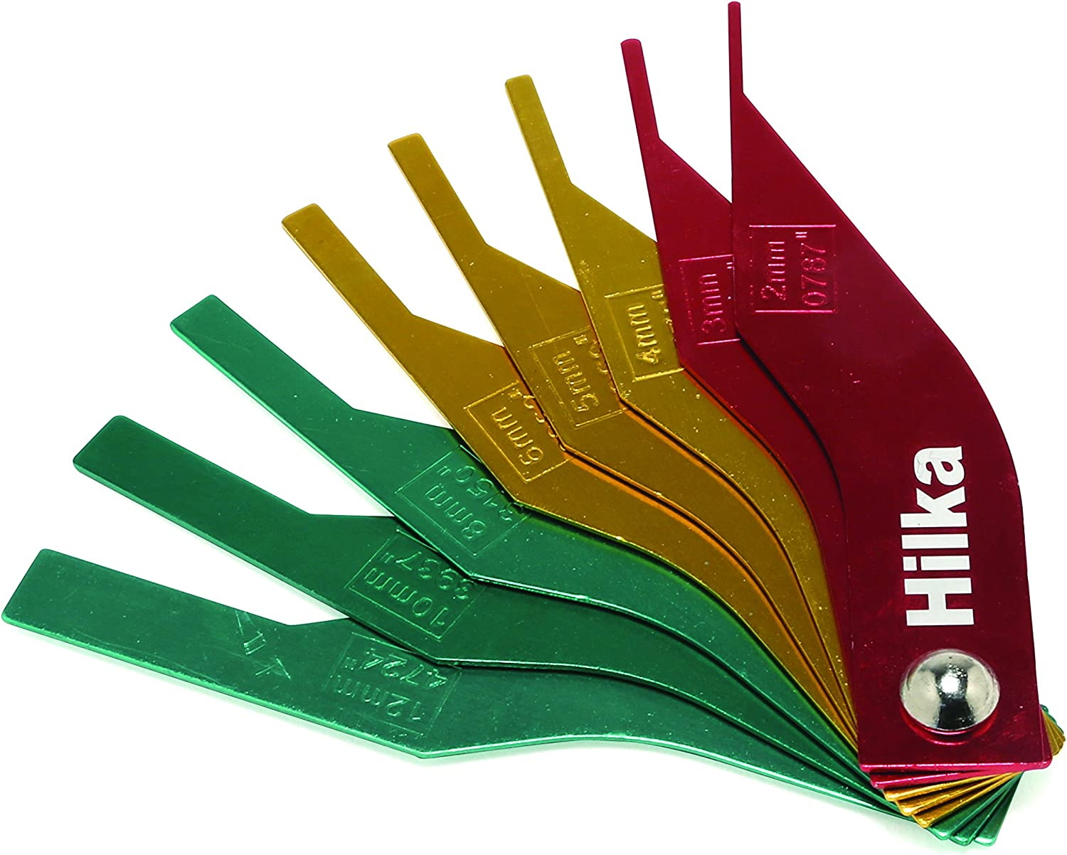 Car Brake Pad Feeler Lining Thickness Gauge Measure Tools 8 in1 Kit Colour Coded
