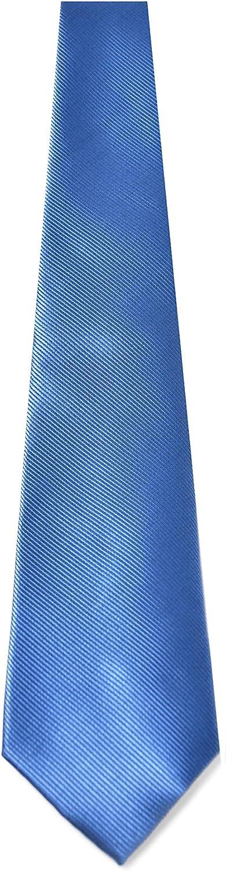 Oxford Collection Corbata de hombre Azul Claro - 100% Seda ...