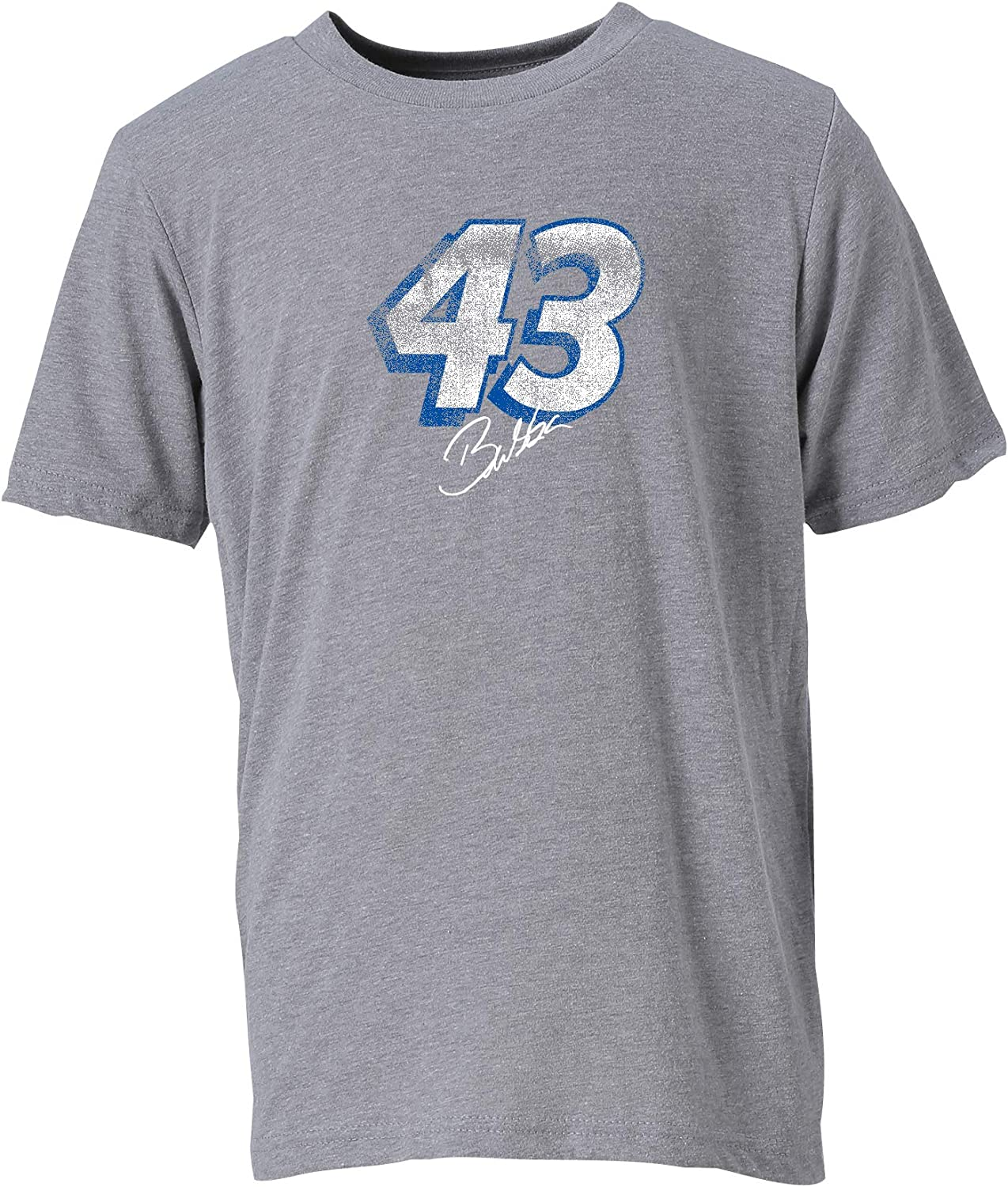 X-Large NASCAR Richard Petty Motorsports Bubba Wallace Youth Vintage Sheer S//S TYouth Vintage Sheer S//S T Dark Grey Heather