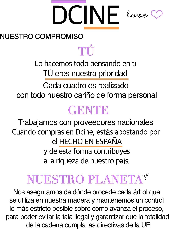 Dcine Set 2 Cuadros Frases Decorativos/Madera/Normas del hogar ...